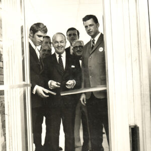 Ribbon Cutting Ceremony with New Jersey Governor William Cahill, Vincent Fox, John Kroeger